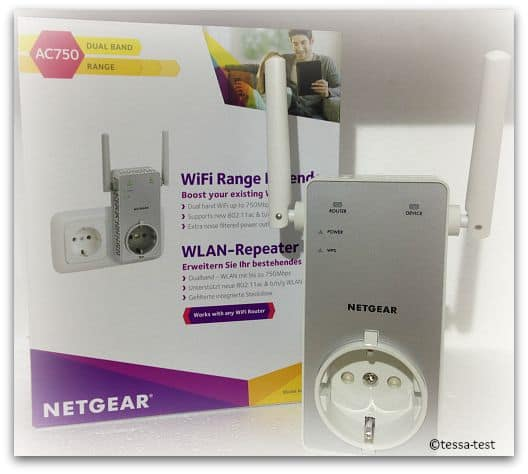 netgear wlan repeater ac750 range extender ex 3800 im produkttest. Black Bedroom Furniture Sets. Home Design Ideas