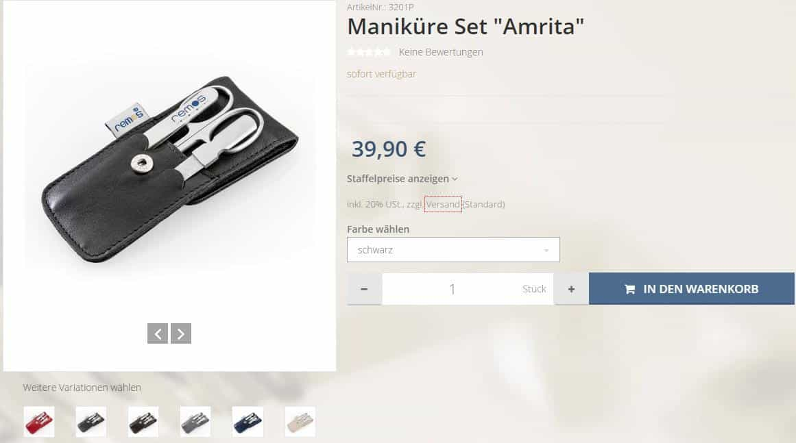 manikure set remos shop