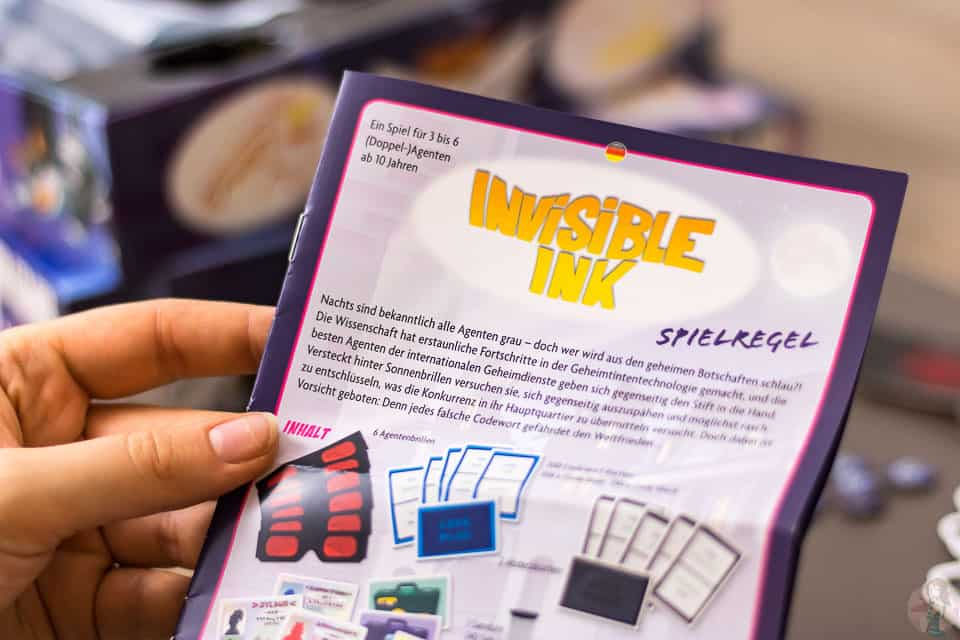 Invisible Ink Spiel